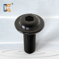 Button head cap screw with collar